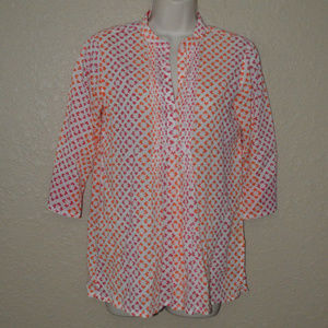Sz XS Roberta Roller Rabbit Red Orange Tunic